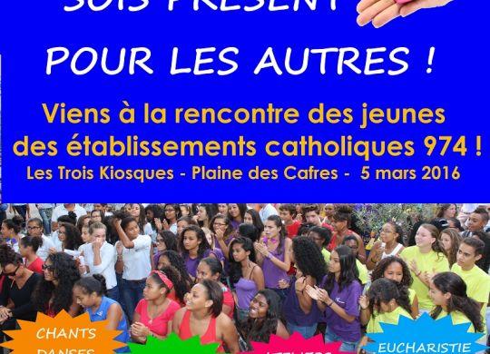 affiche rassemblement des jeunes catoliques